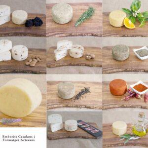 Todos los quesos de cabra semicurados con sabores